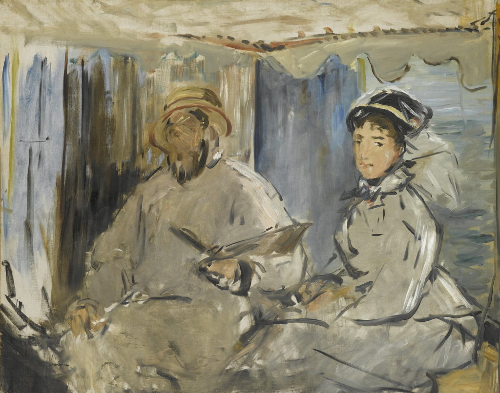 Édouard Manet, Monet peignant dans son atelier, 1874, Monet Collectionneur, Musée Marmottan-Monet