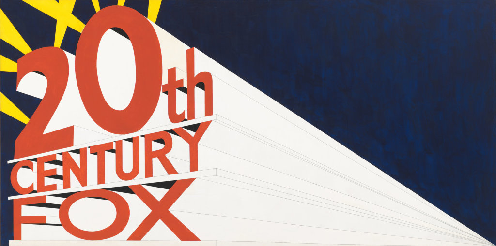 Edward Ruscha, Large Trademark with Eight Spotlights, 1962 - Exposition Pop Art, Icons that matter au Musée Maillol