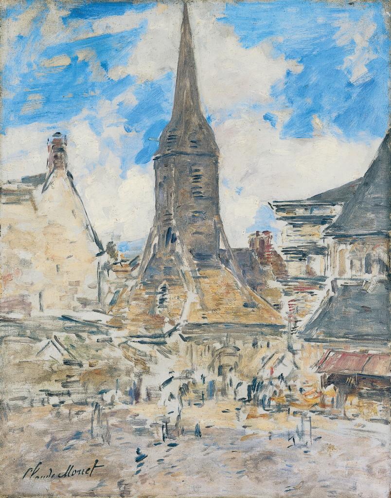 Eugène Boudin –Le clocher Sainte-Catherine, Honfleur, vers 1897, Monet Collectionneur, Musée Marmottan-Monet