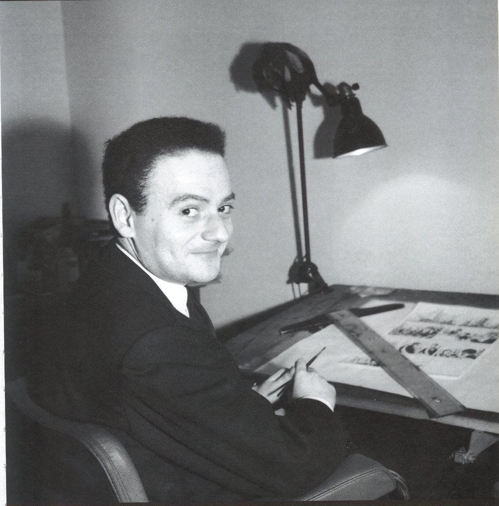 René Goscinny à sa table de dessin, René Goscinny, Musée d'art et d'histoire du Judaïsme