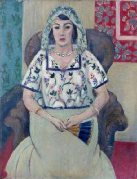 Henri Matisse, Feme assise sur un fauteuil, 1924 - 21 rue de la Boetie au Musee Maillol