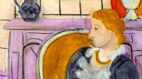 Henri Matisse, Profil bleu devant la cheminee, 1937 - 21 rue de la Boetie au Musee Maillol