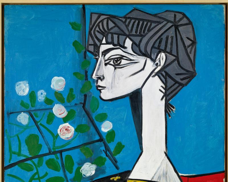 Jacqueline assise de profil, Pablo Picasso, 1954