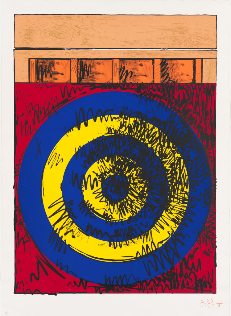 Jasper Johns, Target with Four Faces, 1968 - Exposition Pop Art, Icons that matter au Musée Maillol
