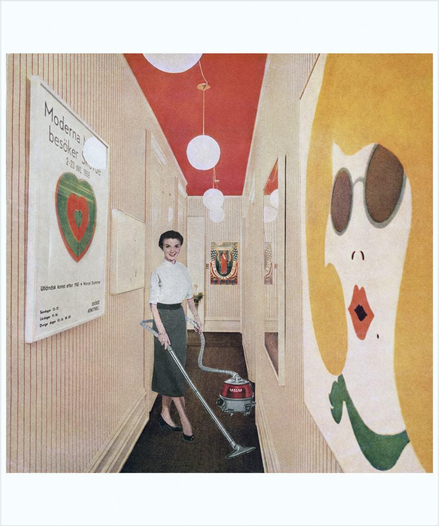 Martha Rosler, Woman with Vacuum, or Vacuuming Pop Art