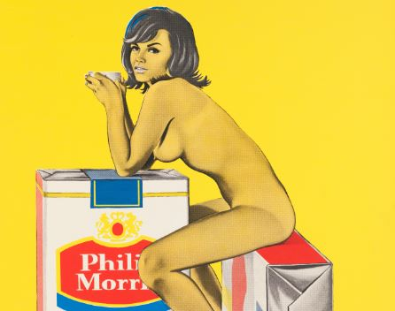 Mel Ramos, Tobacco Rhoda, 1965 - Exposition Pop Art, Icons that matter au Musée Maillol