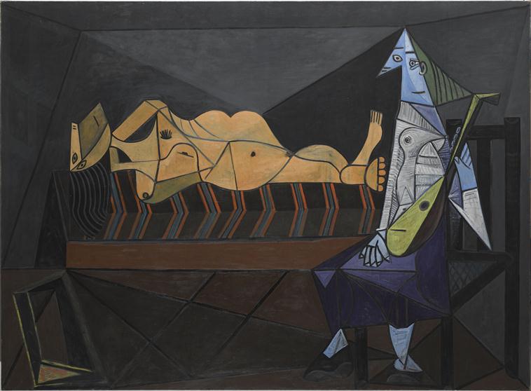 Pablo Picasso, L'Aubade, 1942 - Exposition Picasso 1947. Un don majeur au Musee national d'Art Moderne au Musee Picasso de Paris