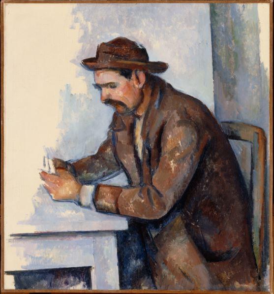 Paul Cezanne, Etude Les joueurs de Cartes - Portraits de Cezanne au Musee d'Orsay