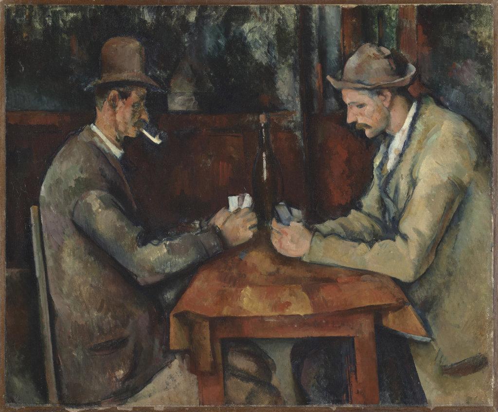 Paul Cezanne, Les joueurs de Cartes - Musee d'Orsay