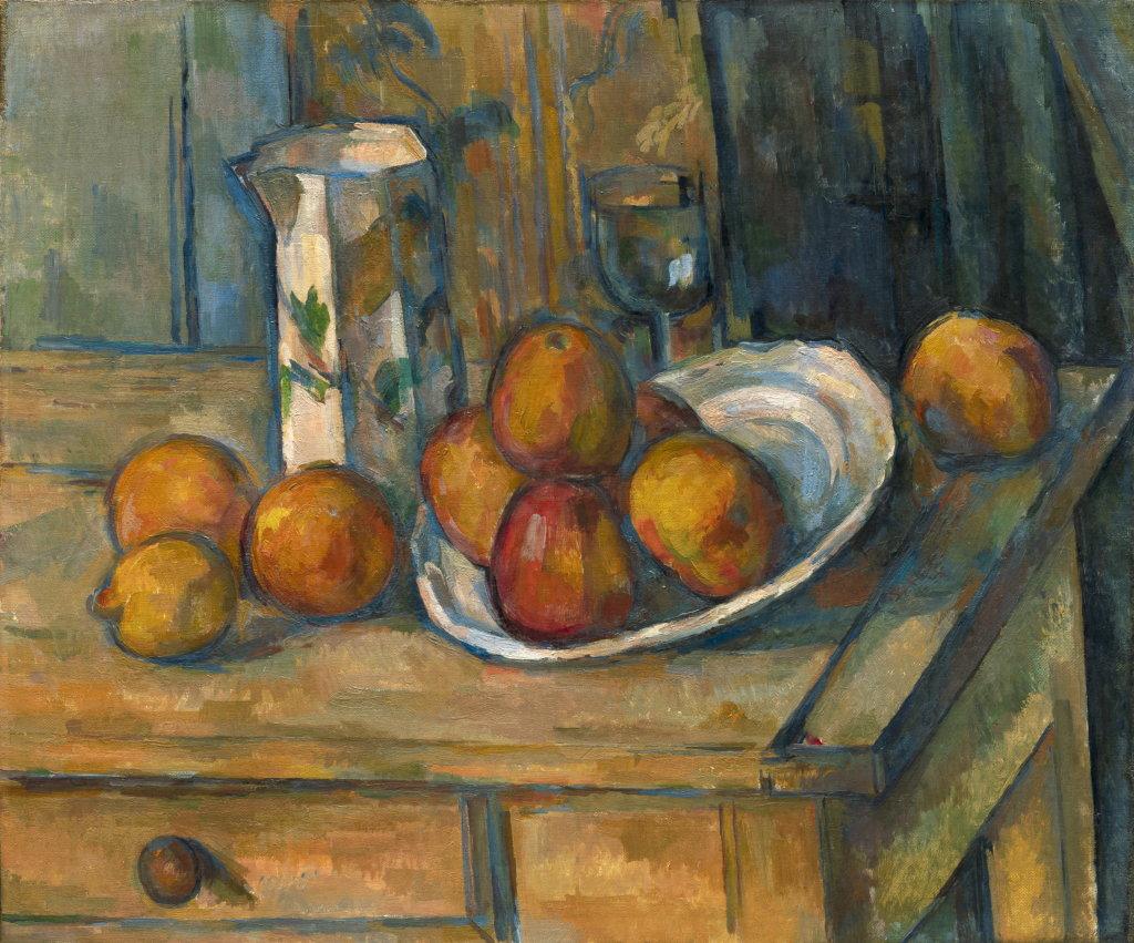 Paul Cézanne, Still Life with Milk Jug and Fruit, 1900, Monet Collectionneur, Musée Marmottan-Monet