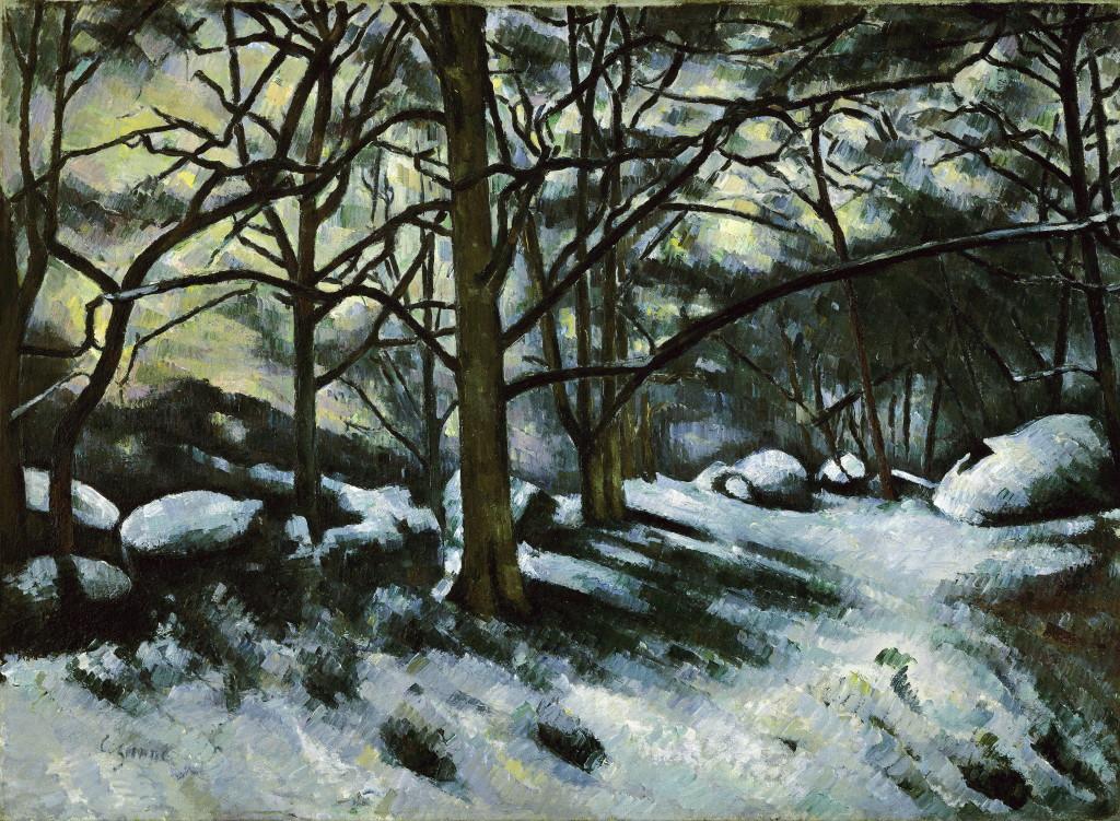 Paul Cézanne, Neige fondante à Fontainebleau, 1879-1880, Monet Collectionneur, Musée Marmottan-Monet