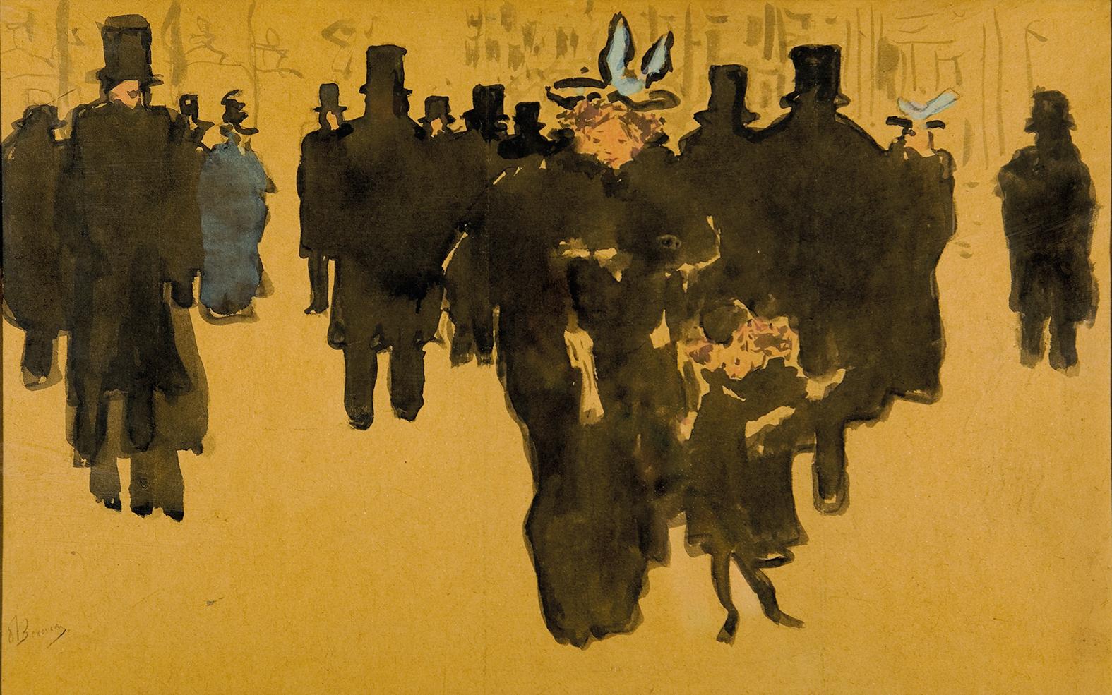 Pierre Bonnard, Les Grands Boulevards, vers 1895 - Touspourunbonnard, collecte participative d'acquisition par le Musee Bonnard du Cannet