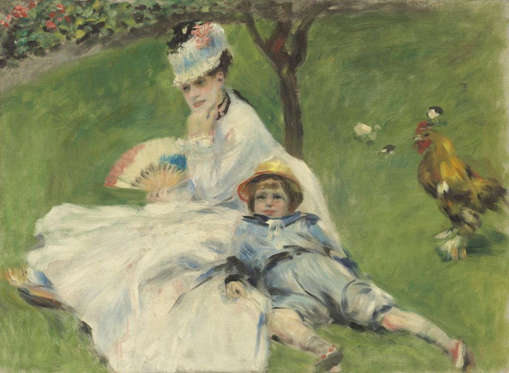 Auguste Renoir, Madame Monet and Her Son, French, 1874, Monet Collectionneur, Musée Marmottan-Monet