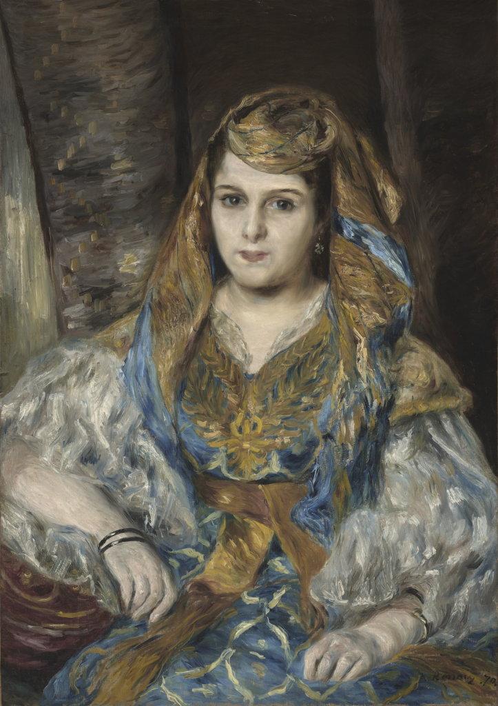 Pierre-Auguste Renoir –Portrait de MmeClémentine Valensi Stora (l'Algérienne), 1870, Monet Collectionneur, Musée Marmottan-Monet