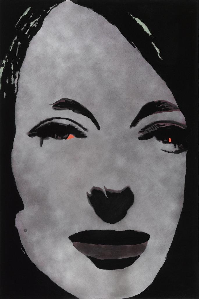 Martial RAYSSE (1936 – ) Tableau dans le style français II, 1966Technique et flocage mixte sur toile 195 x 130 cm Collection Centre Pompidou, Paris Musée national d'art moderne/Centre de création industrielle Dation 2008. Ancienne collection Président et Madame Georges Pompidou