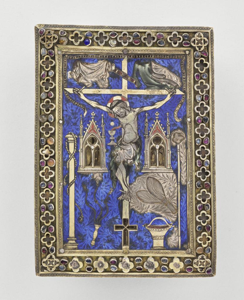 Tableau-reliquaire, 14e siecle - Exposition Le verre, un Moyen Âge Inventif au Musée de Cluny
