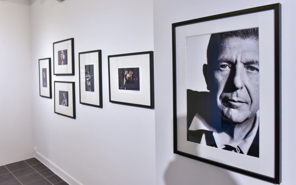 Vue de l'exposition Leonard Cohen, Photographies de Claude Gassian a l'Institut Lumiere de Lyon