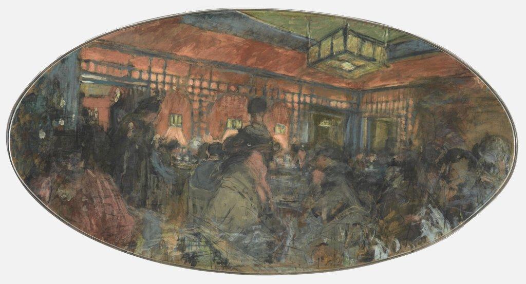 Vuillard, Intérieur de salon de thé, Le Grand Teddy, projet, 1917 - Exposition Bonnard Vuillard au Musée Bonnard, Le Cannet
