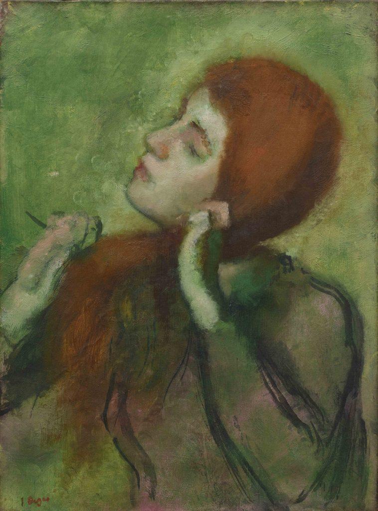 Degas femme se coiffant