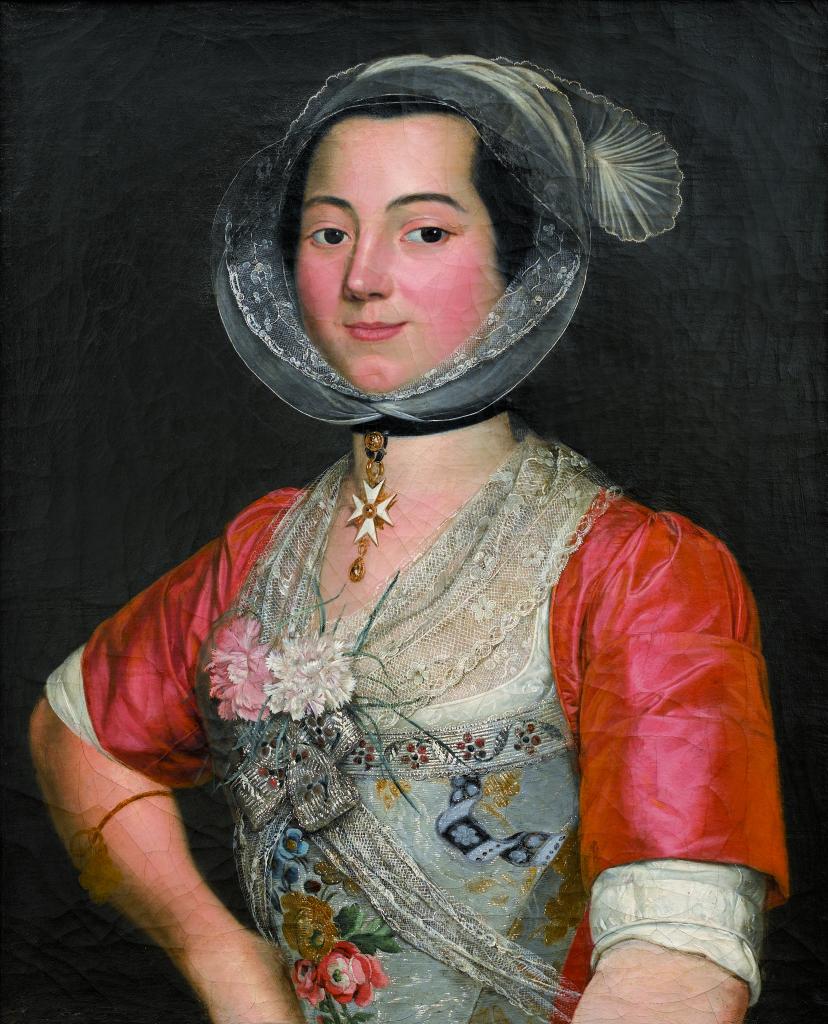 Expo Raspal - Musées Fragonard - Antoine Raspal, Portrait d'une Arlésienne aux oeillets