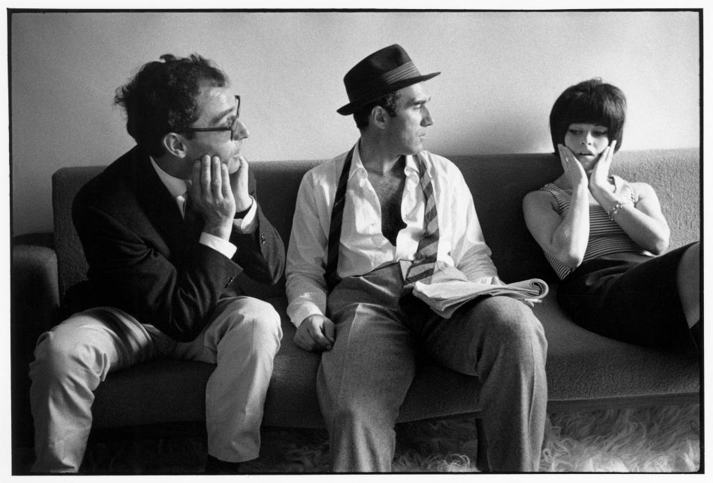 ean-Luc Godard, Michel Piccoli, Brigitte Bardot, 1963