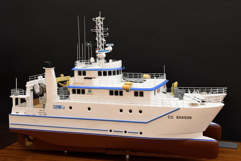 Maquette du navire l'Antéa prêtée par l'IRD, Aventures Océaniques, Aquarium tropical du palais de la Porte Dorée