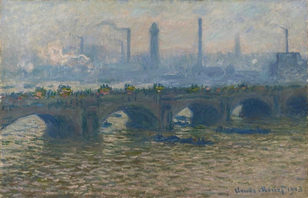 Monet Waterloo bridge 1903