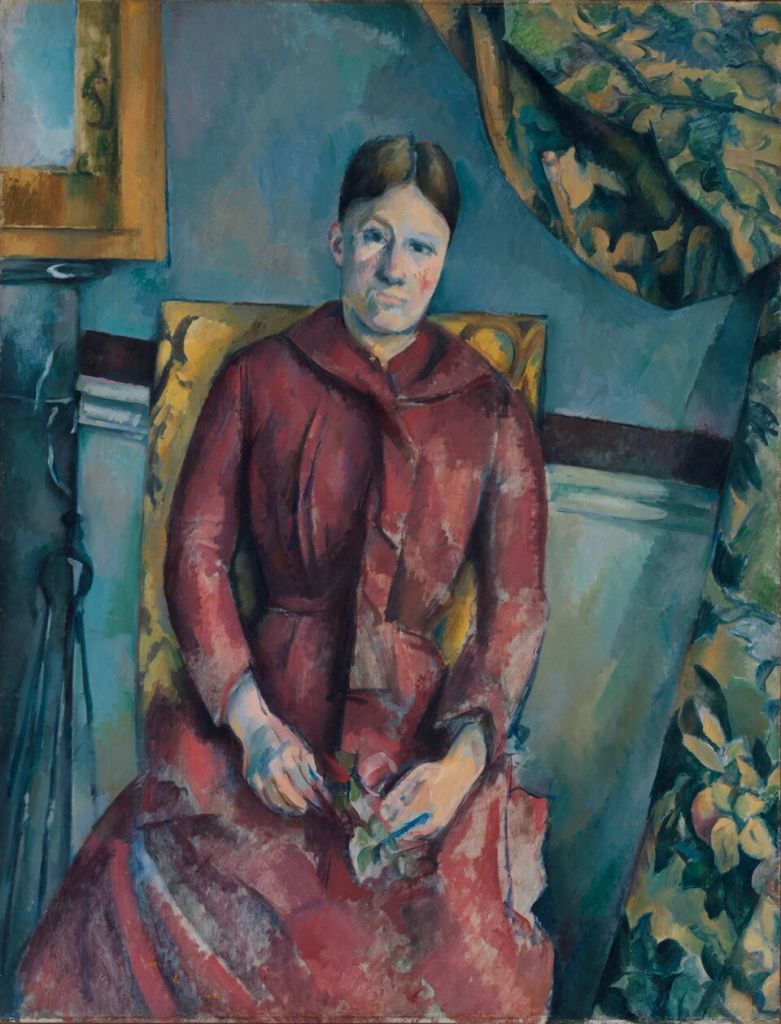 Cézanne, Madame Cézanne au fauteuil jaune, tableau de New-York
