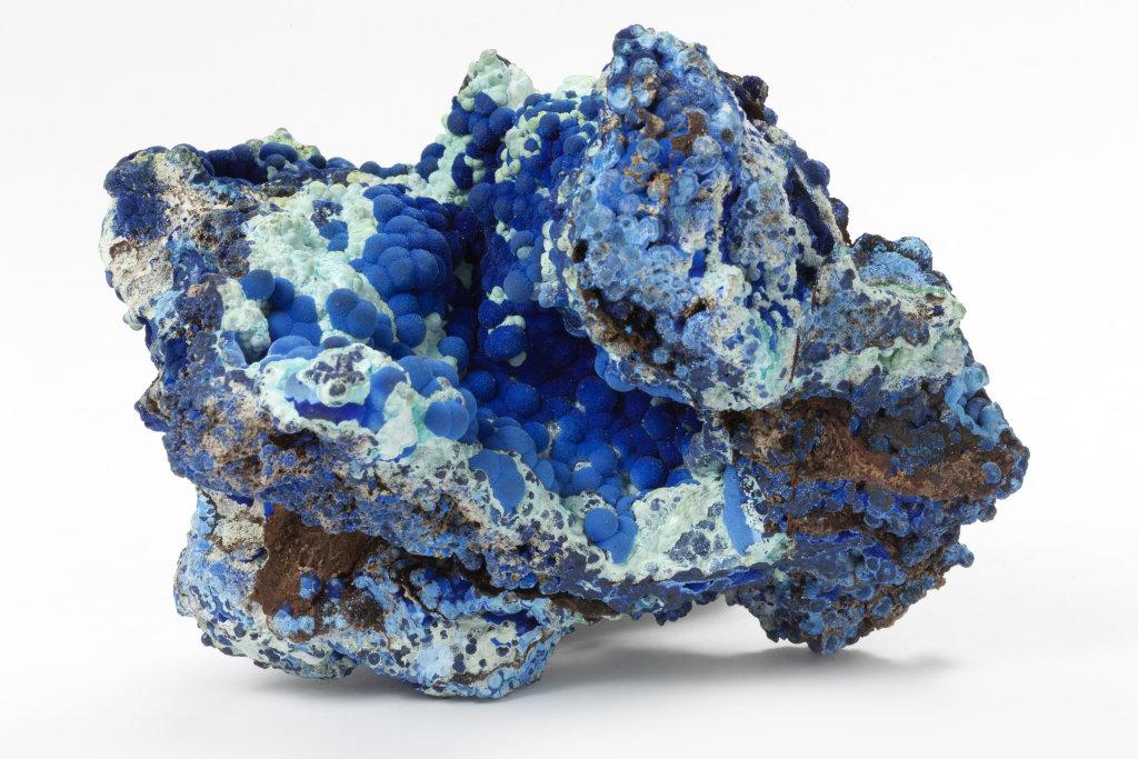 Azurite, Trésors de la terre, Galerie de géologie et de minéralogie
