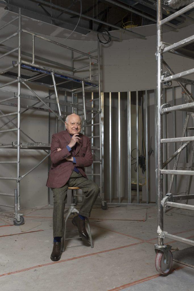 Pierre Bergé dans les travaux du Musée Yves Saint Laurent Paris, 2017, musée Yves Saint Laurent