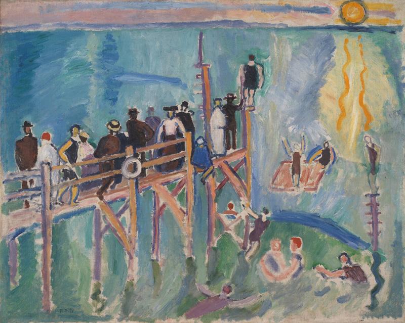 Raoul DUFY, Effet de soleil sur l'eau à Sainte-Adresse, 1906, Impression(s) soleil levant, MUMA