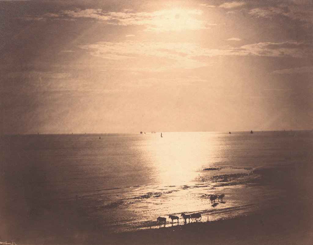 Gustave LE GRAY, Le Soleil au zénith – Océan n°22, Normandie, 1856, Impression(s) soleil levant, MUMA