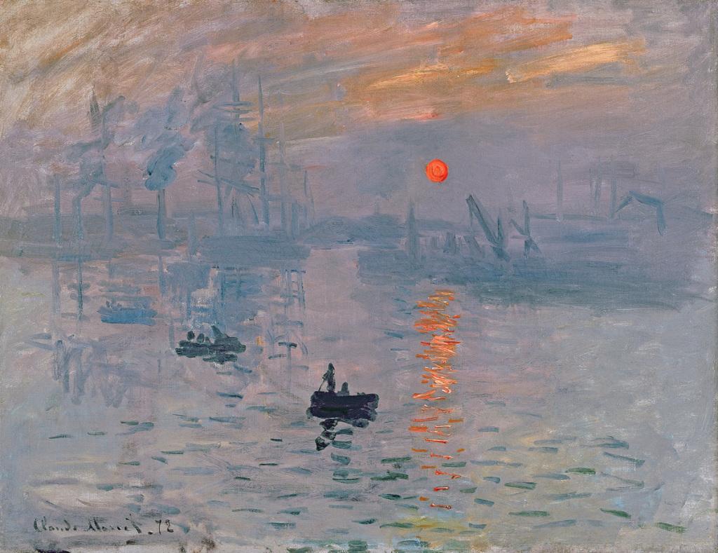 Claude MONET, Impression, soleil levant, 1872, Impression(s) soleil levant, MUMA