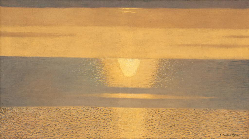 Félix VALLOTTON, Coucher de soleil, brume jaune et gris, 1913, Impression(s) soleil levant, MUMA