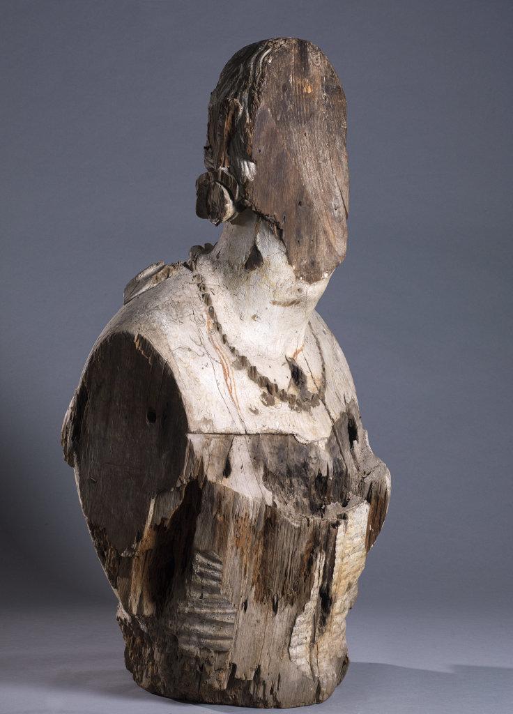 Figure de proue, épave de la Sémillante, 1855 - Exposition Secrets d'épaves, 50 ans d'archéologie sous-marine en Corse au Musée de Bastia