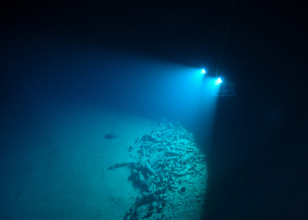Fouilles de l'épave Aleria 1 - Exposition Secrets d'épaves, 50 ans d'archéologie sous-marine en Corse au Musée de Bastia