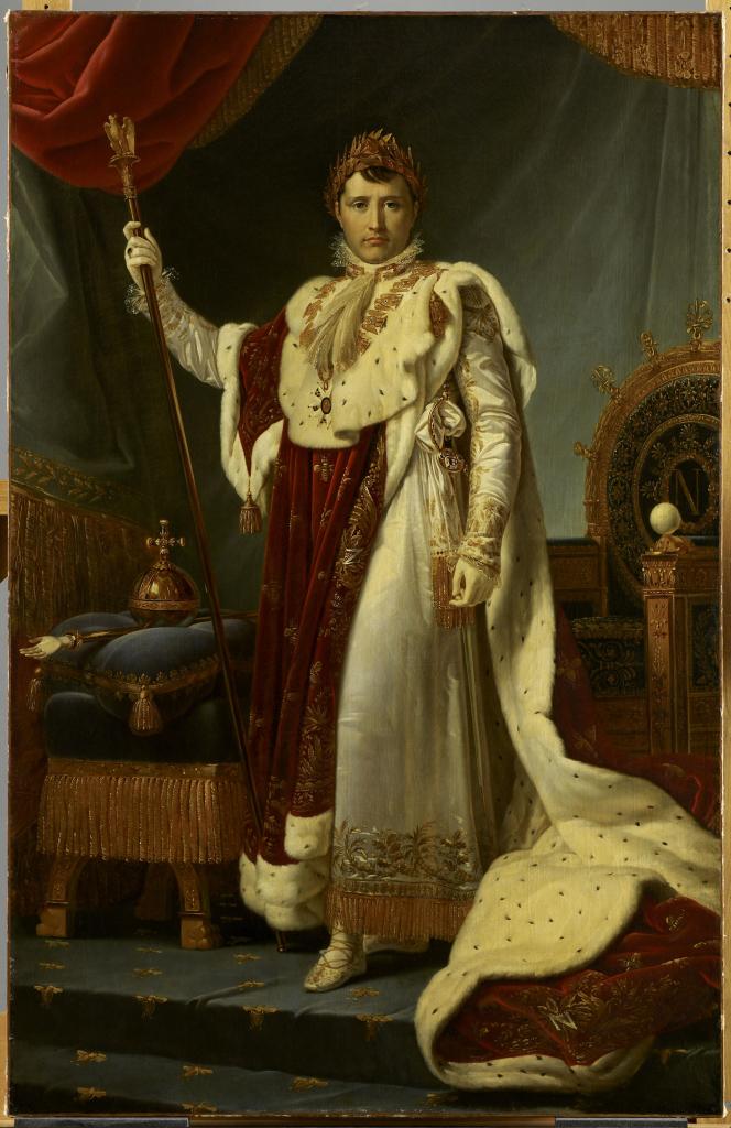 François Gérard, L'Empereur napoléon 1er en costume de sacre, 1805 - Exposition Théâtre du pouvoir au Musée du Louvre