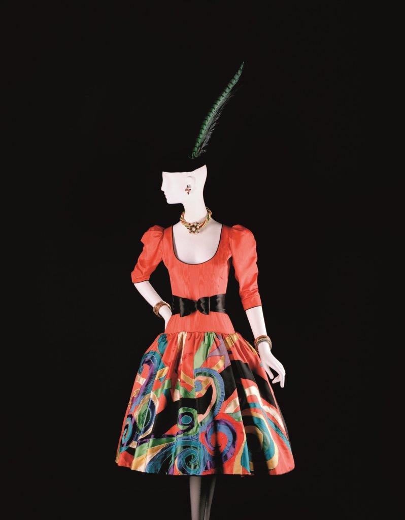 Robe hommage à Pablo Picasso, Collection haute couture automne-hiver 1979, musée Yves Saint Laurent