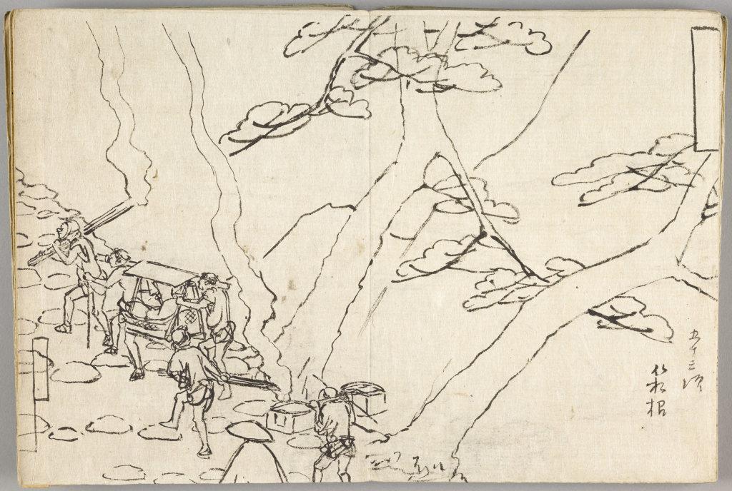 Utagawa Hiroshige, Hakone, voyage nocturne aux flambeaux, Paysages japonais, Musée Guimet