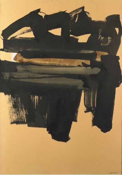 Pierre Soulages, 63-13, 1962, L'invisible vu, centre d'art contemporain de la Matmut