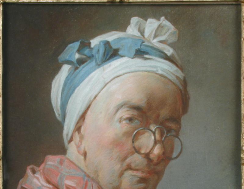 Autoportrait aux bésicles, École française