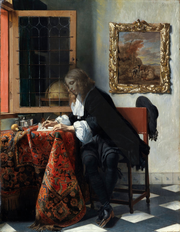 Man Writing a Letter, Gabriel Metsu