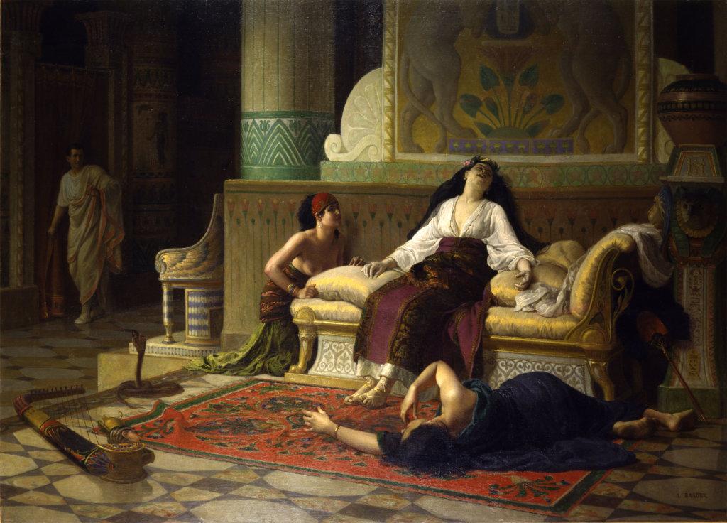 Louis-Marie Baader, La mort de Cléopâtre, reine d'Égypte Vers 1899, Musique ! Louvre Lens