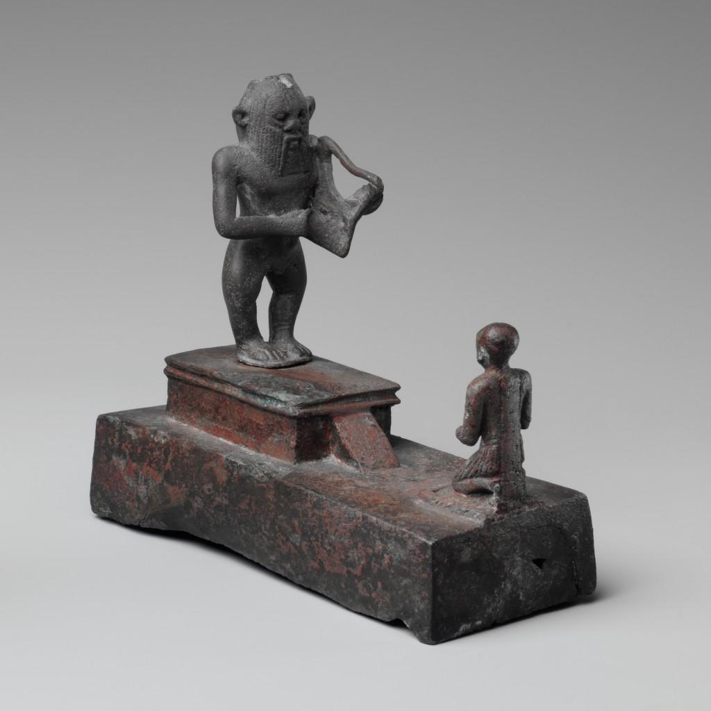 Bès jouant de la lyre Égypte 664-332 avant J.-C., Musique ! Louvre Lens