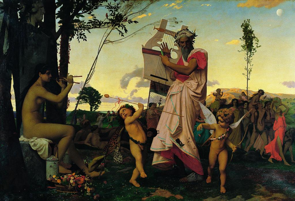 Jean-Léon GérômeAnacréon, Bacchus et l'Amour 1848, Musique ! Louvre Lens