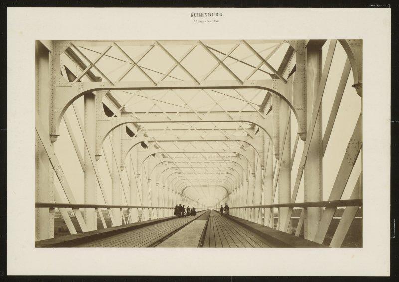 Johann Heinrich Schönscheidt, Pont ferroviaire au-dessus de la rivière à Kuilenburg, 1868