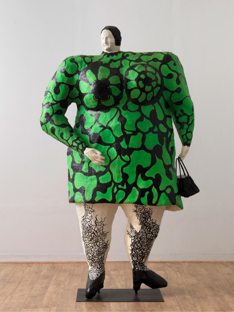 Niki de Saint Phalle. [Madame ou Nana verte au sac], [1968]