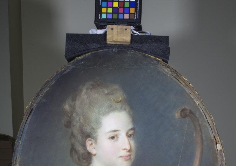 Portrait de Félicité Pinchinat, future Mme Seurrat de Guilleville, en Diane 1765