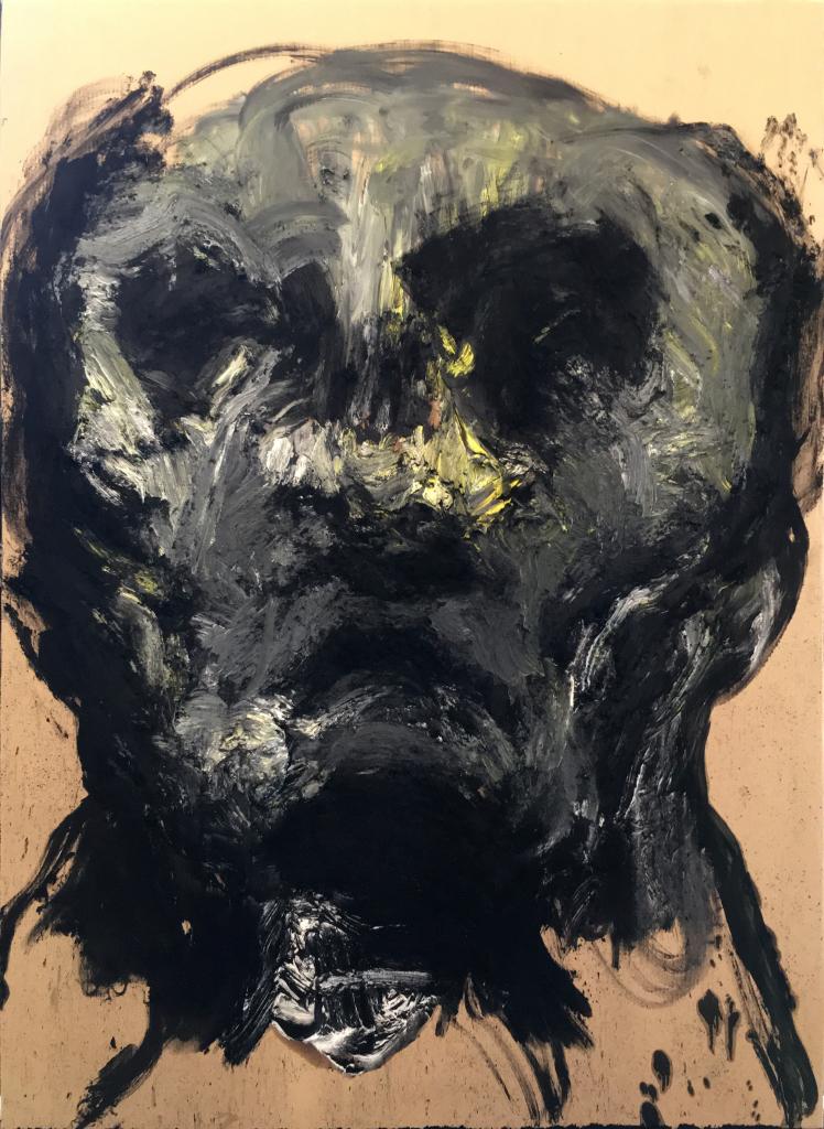 Lydie Arickx, Portrait, Huile et pigments sur papier marouflé, 99 x 135cm
