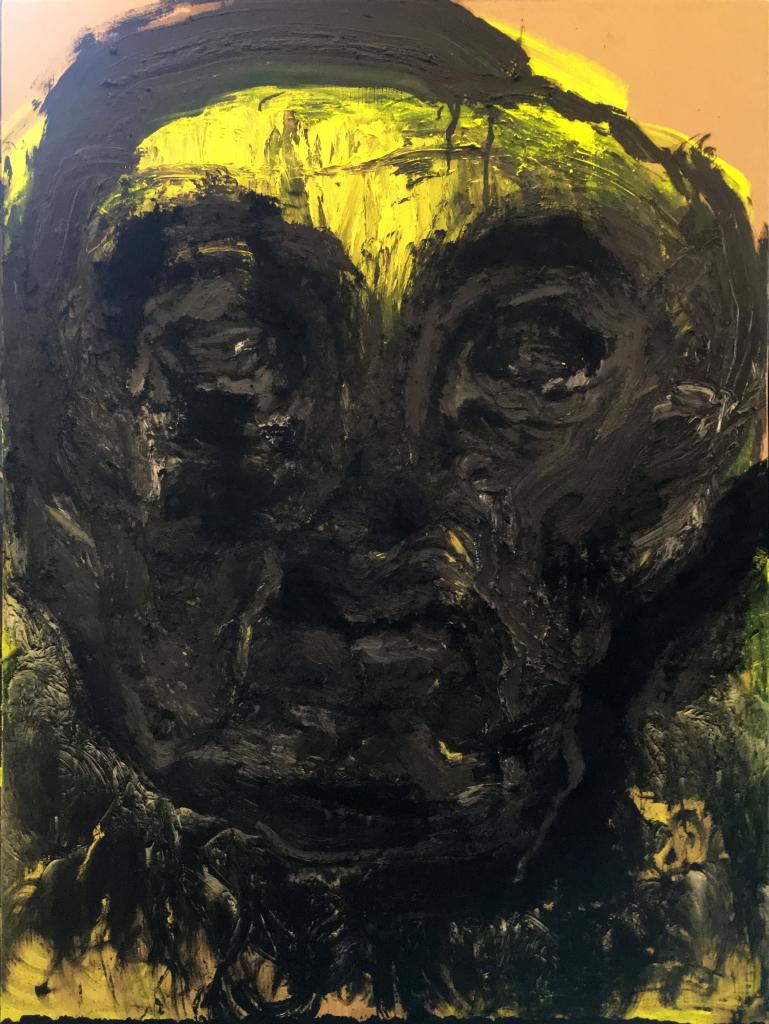 Lydie Arickx, Portrait II, Huile et pigments sur papier marouflé, 99 x 135cm